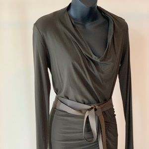 Donna Karan olive green dress